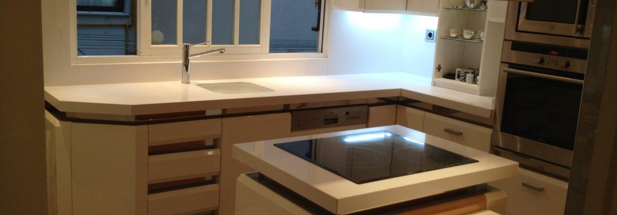 Reforma de cocina con microcemento
